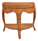 Boho Chic Vintage Handcrafted Bamboo Cane Wicker Three Legged Console Table Chairish