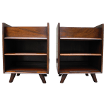 Pair Of Mid Century Modern Cherry Night Stands By Edmond J Spence