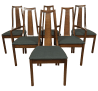 Mid Century Cane Back Dining Chairs Set Of 6 Chairish
