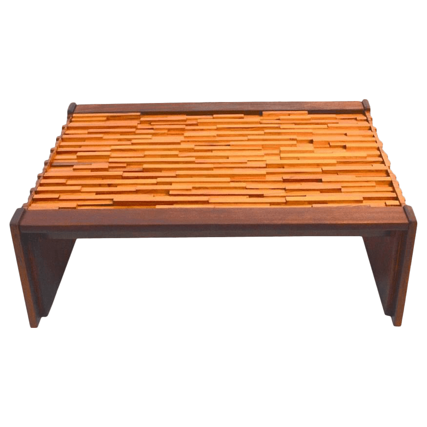 percival lafer mixed wood coffee table