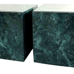 1970s Faux Granite Teal Cube Tables A Pair Chairish