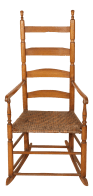 Early 20th Century Ladder High Back Rocking Chair