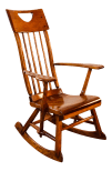 Colonial American High Back Rocking Chair By Herman De Vries For Sikes Furniture Co