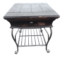 Black Distressed Wood And Wrought Iron Table Chairish