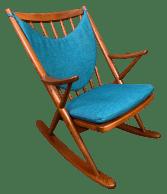 Vintage Danish Mid Century Modern Teak Rocking Chair By Frank Reenskaug For Bramin Chairish