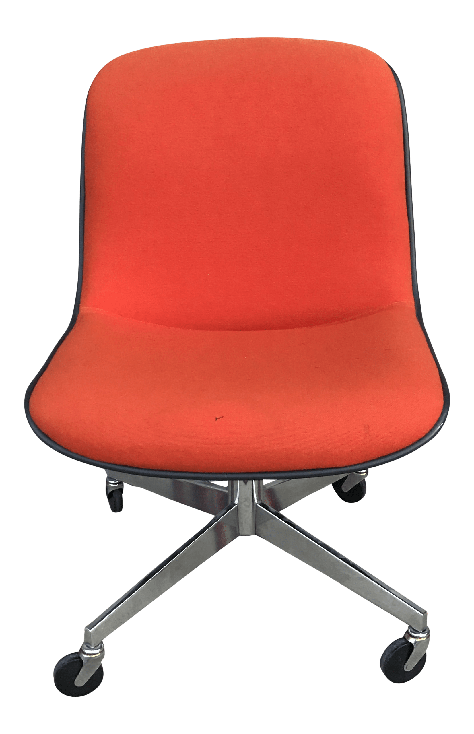 1970s Vintage Steelcase For Knoll Orange Office Chair Chairish
