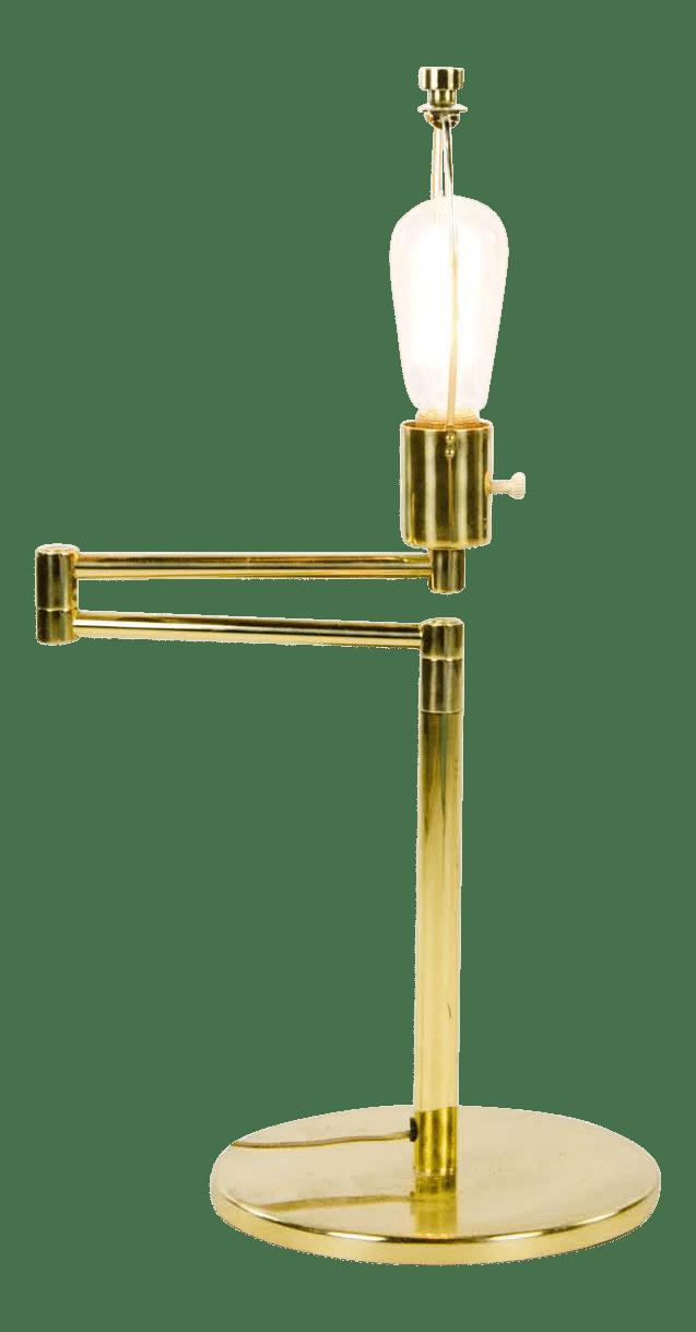 1950s Vintage George Hansen Brass Swing Arm Table Lamp Chairish