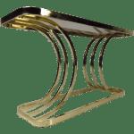 Contemporary Modern Brass Console Table Chairish