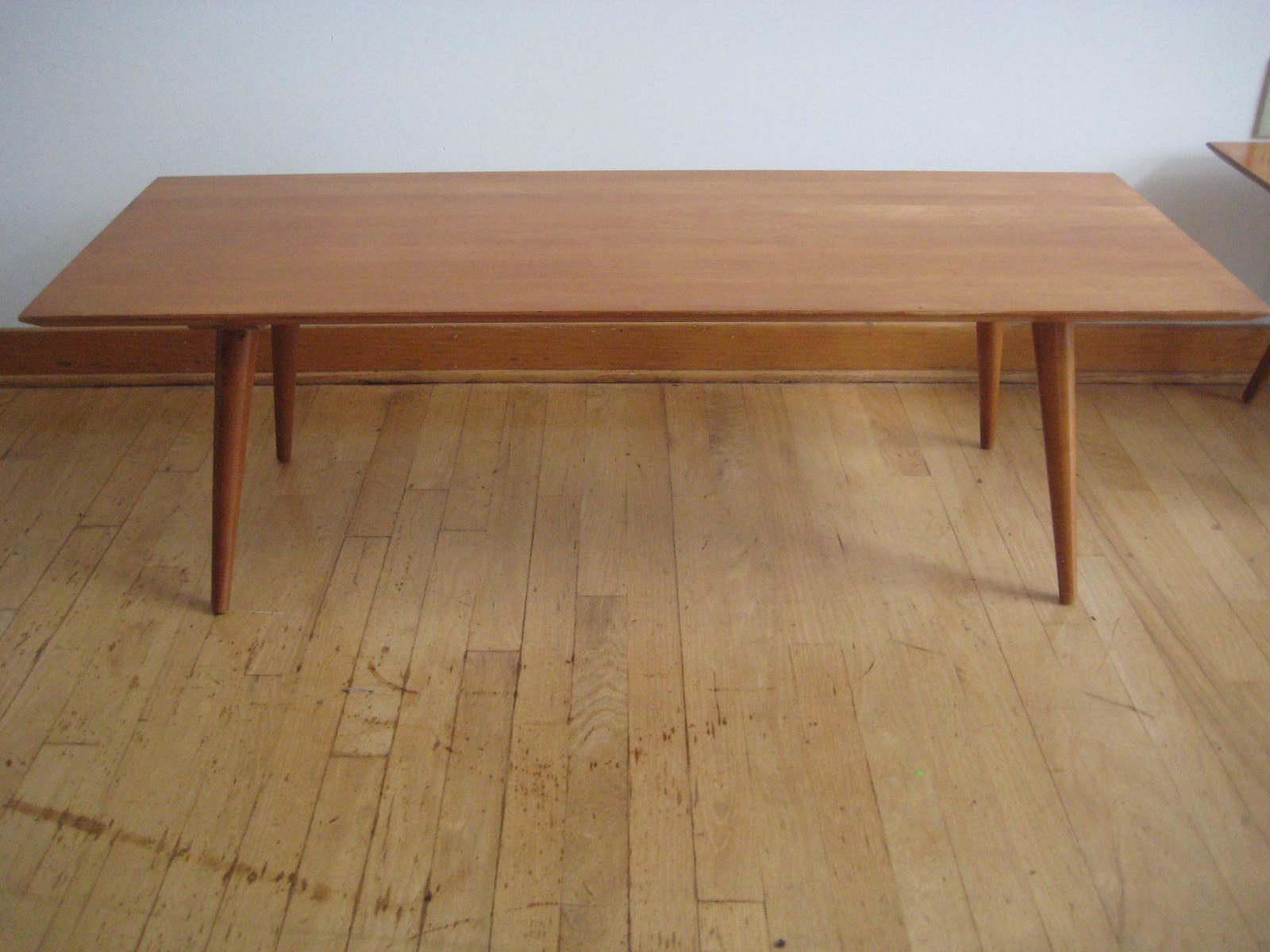 mid century paul mccobb planner group long coffee table