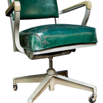1950s Vintage Beefy Steelcase Banker Rolling Desk Chair Chairish