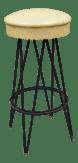 Vintage Wrought Iron Metal Hairpin Leg Atomic Era Swivel Bar Stool Chairish