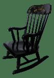 Black Stenciled 1900s Hitchcock Rocking Chair For Children