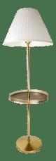 Mid Century Modern Brass Floor Lamp With Table Chairish