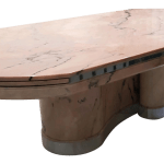 Italian Pink Marble Extension Dining Table With Chrome Plinth Chairish