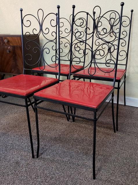 mid century gallo iron works patio chairs c 1950 set of 4