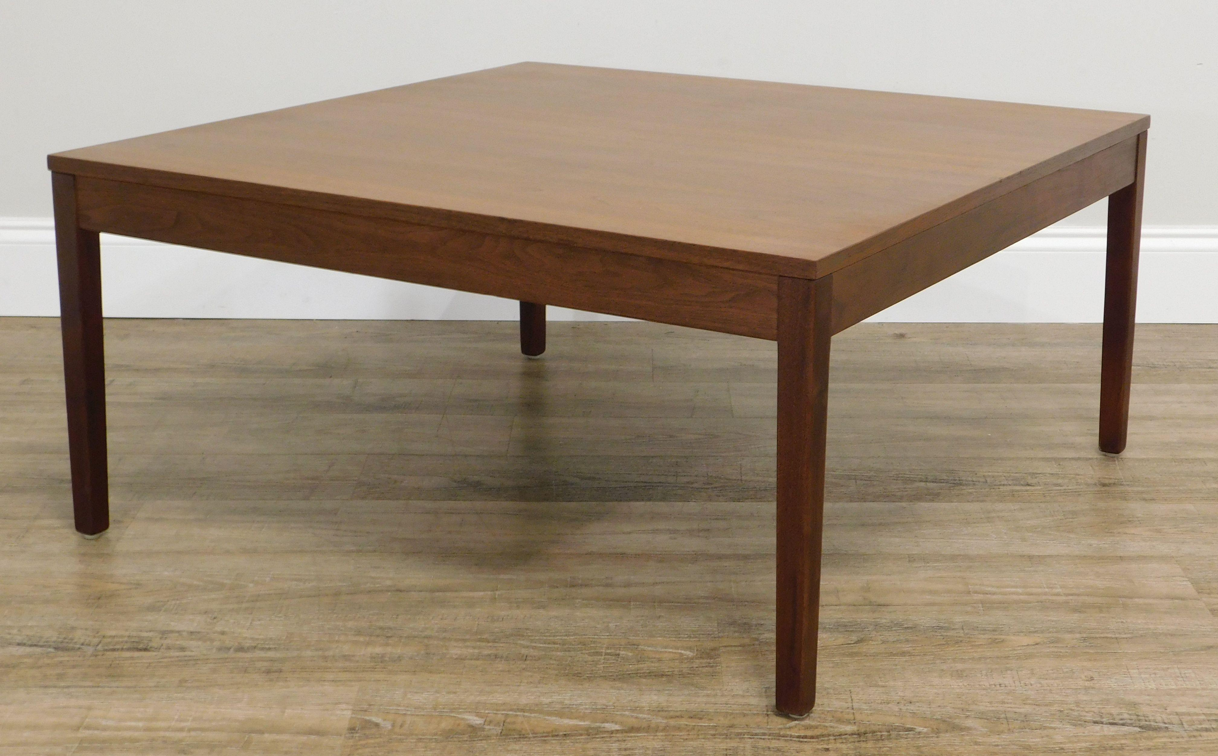 george nelson for herman miller 32 square walnut coffee table