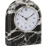 Black White Marble Desk Clock Chairish