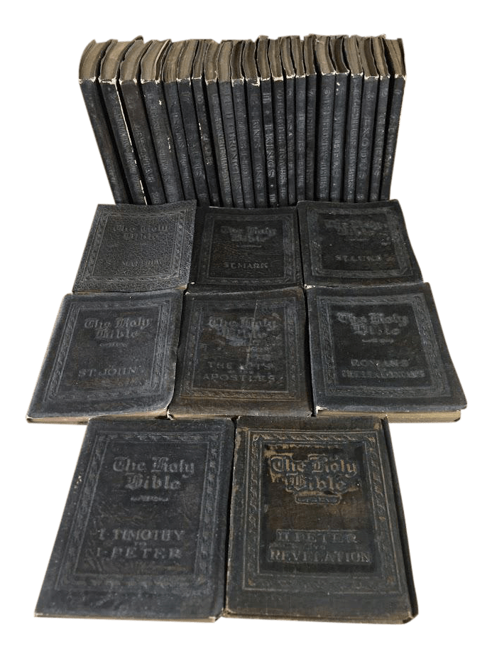 Little Leather Library Holy Bible Set Of 22 Book Chairish