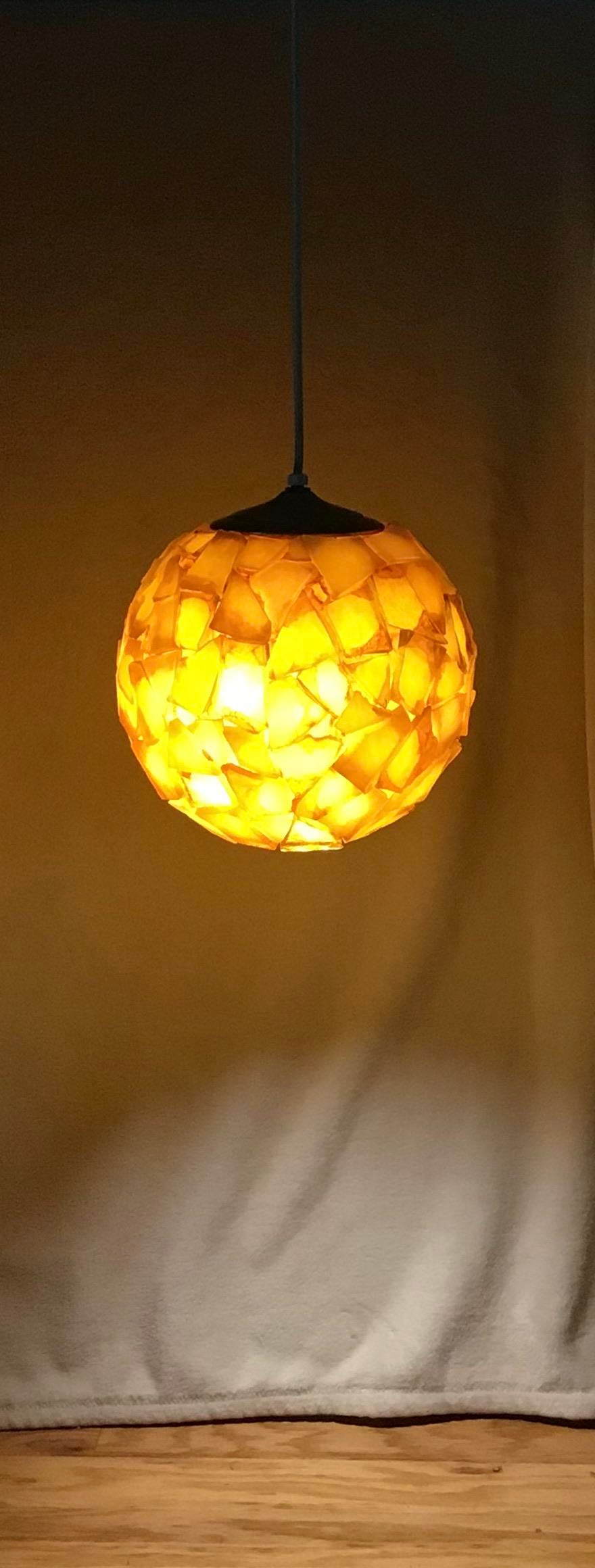1960 s mid century chunky rock candy lucite acrylic hanging swag light