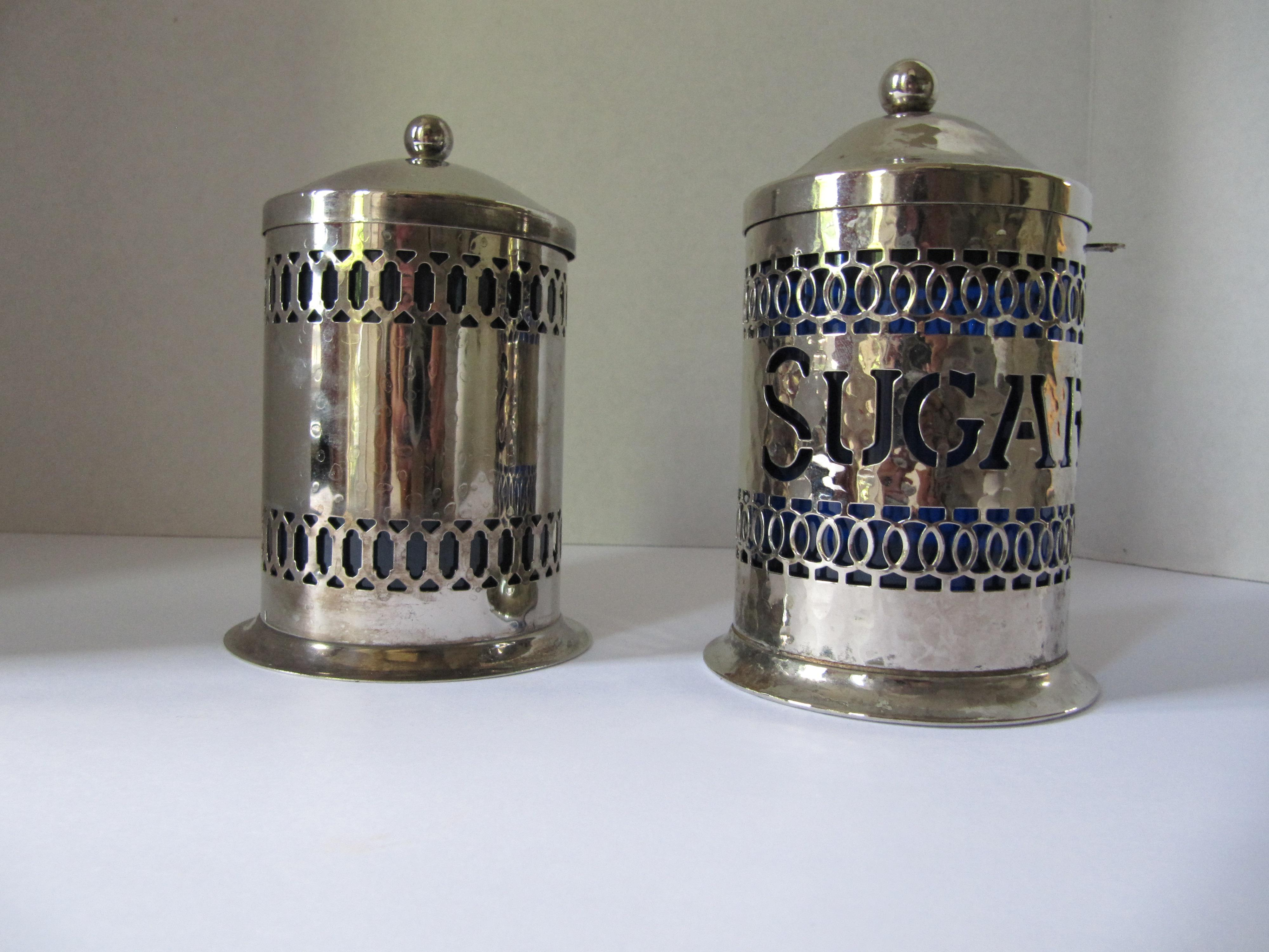 Vintage Silver Plate Canisters A Pair Chairish