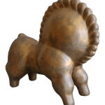 Abstract Cast Bronze Horse Sculpture After Russel Wright Chairish