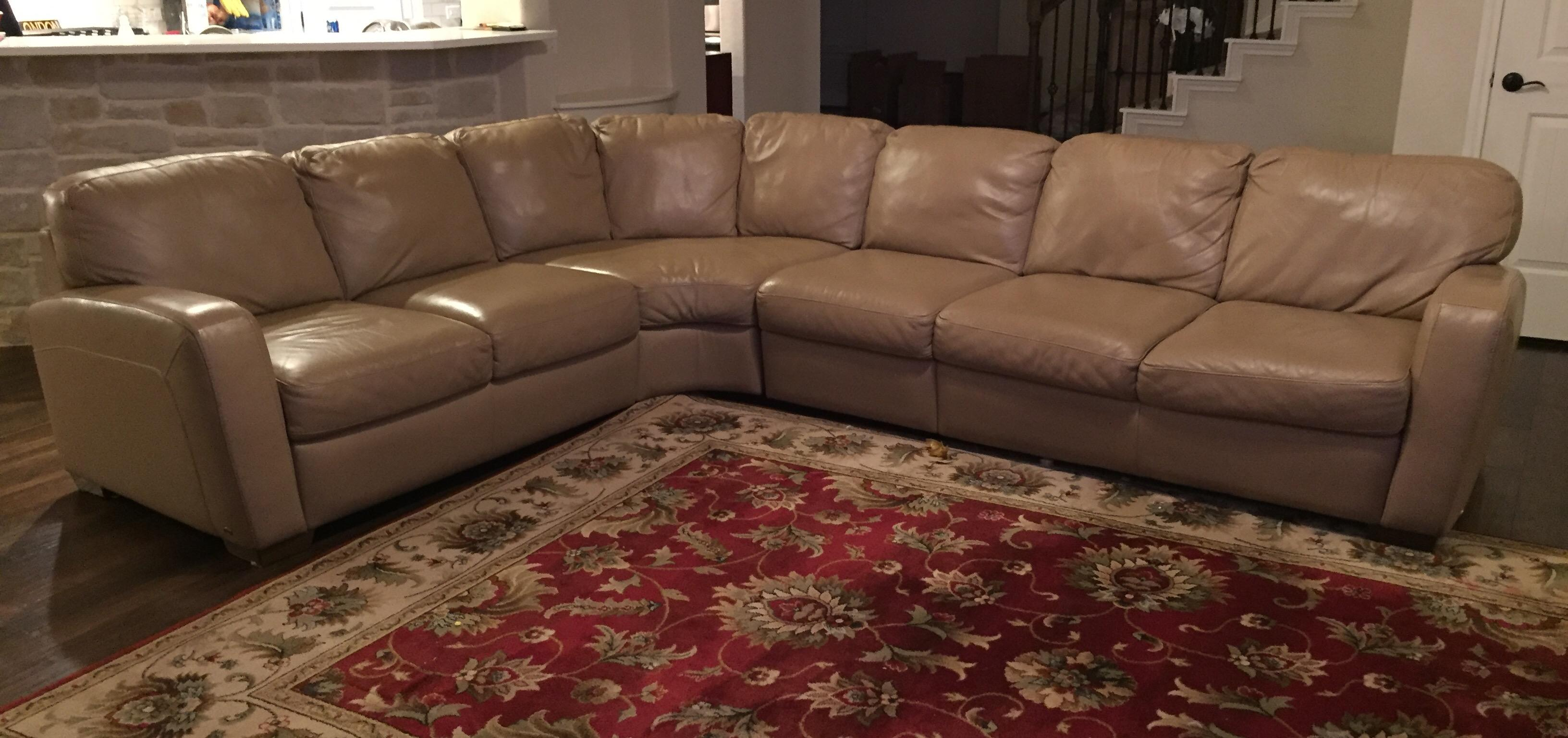 We found the best leather sofas from manufacturers like serta, west elm, and more. Natuzzi Leather Sectional Sofa | Chairish