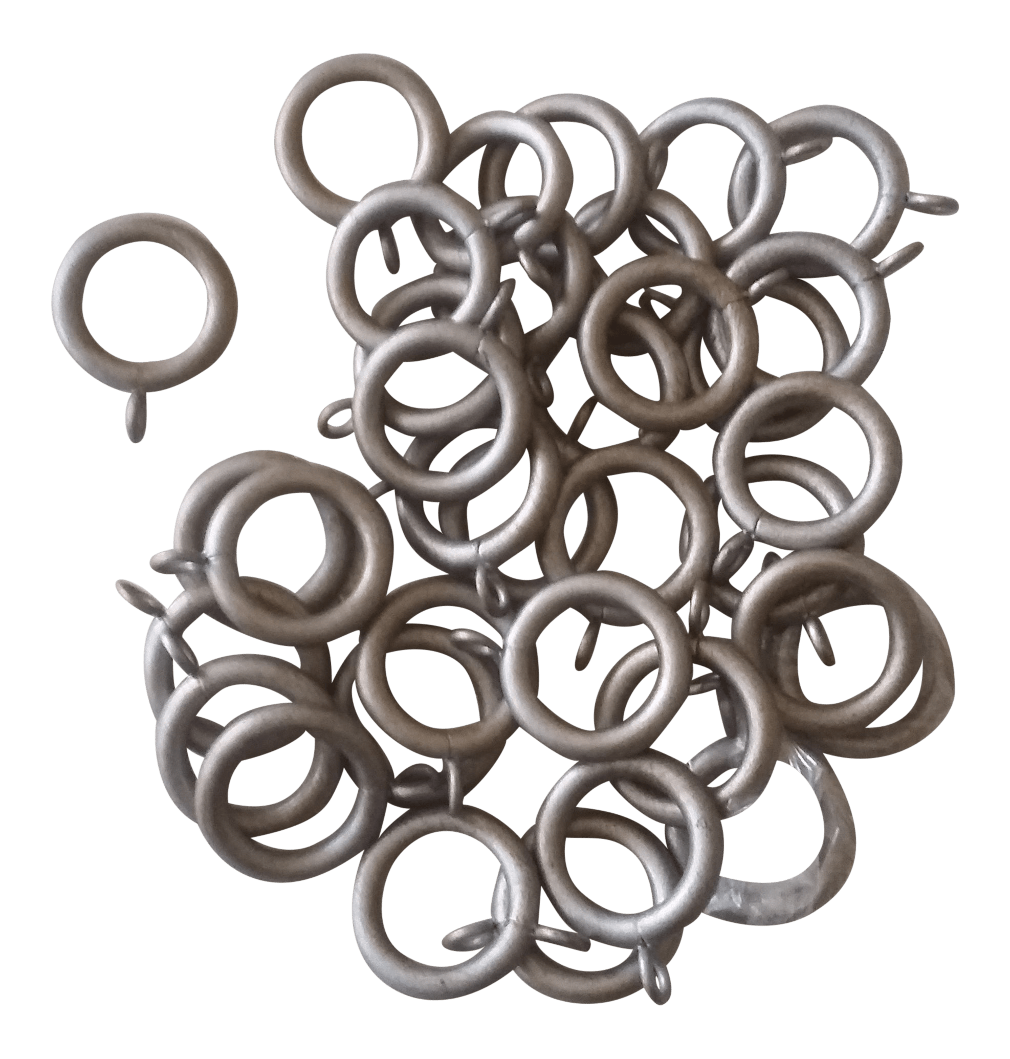 the finial company curtain rod rings 112 silver with gold set of 35