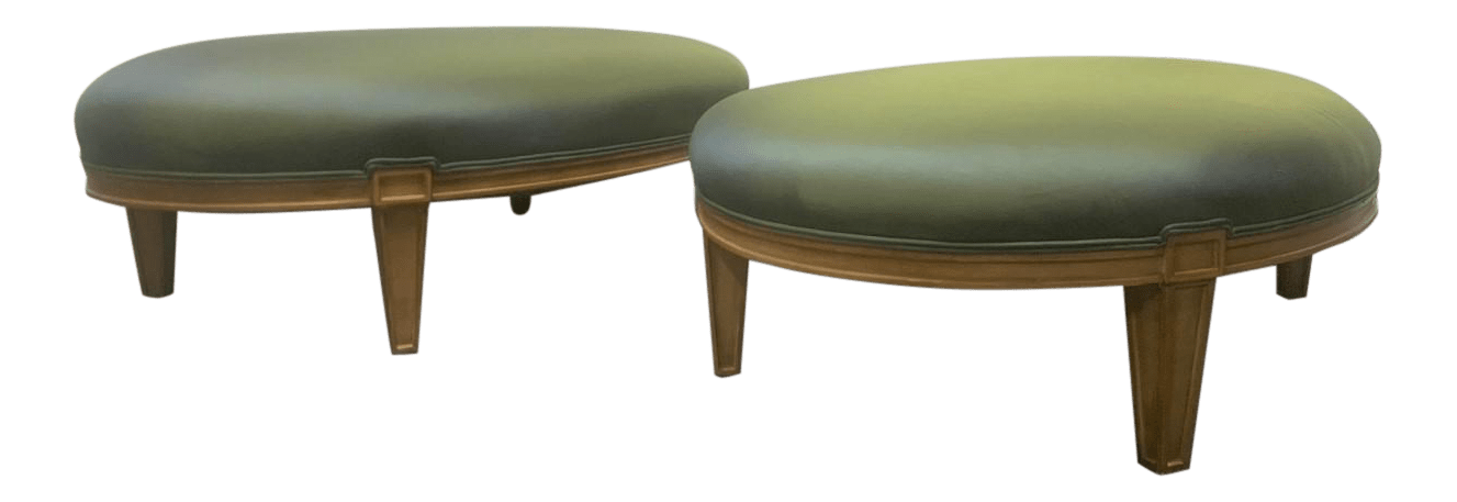 vintage used ottomans for sale chairish