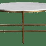 Denali Marble Brass Coffee Table Chairish