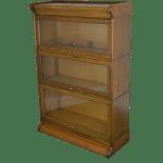 Antique Oak 3 Stack Barrister Bookcase
