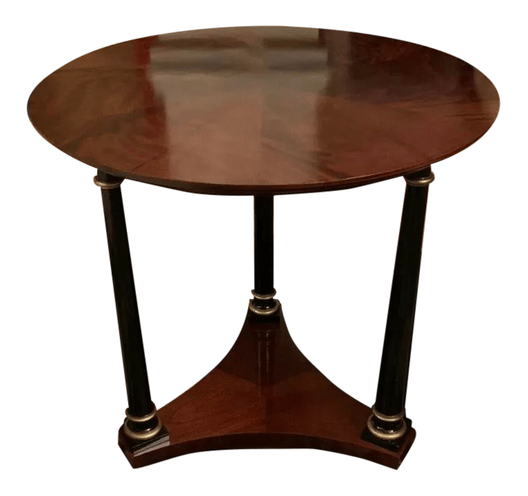 neoclassical baker furniture mahogany round side table