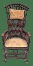 Late 19th Century George Hunzinger Highback Lollipop Platform Rocking Chair