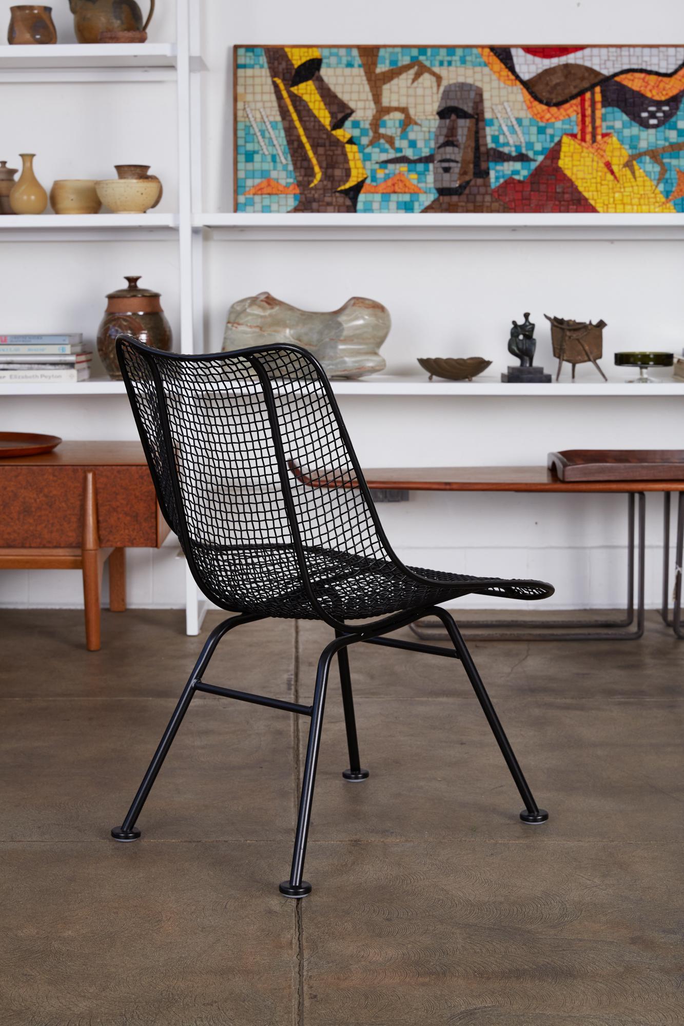russell woodard sculptura patio side chairs