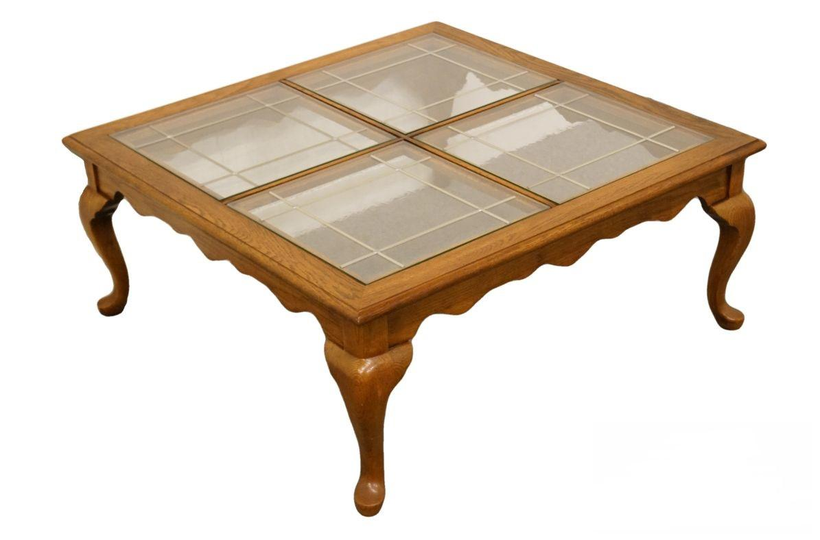 20th century french country solid oak coffee cocktail table