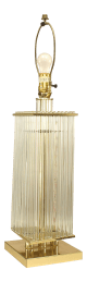 Contemporary Brass And Glass Table Lamp Chairish