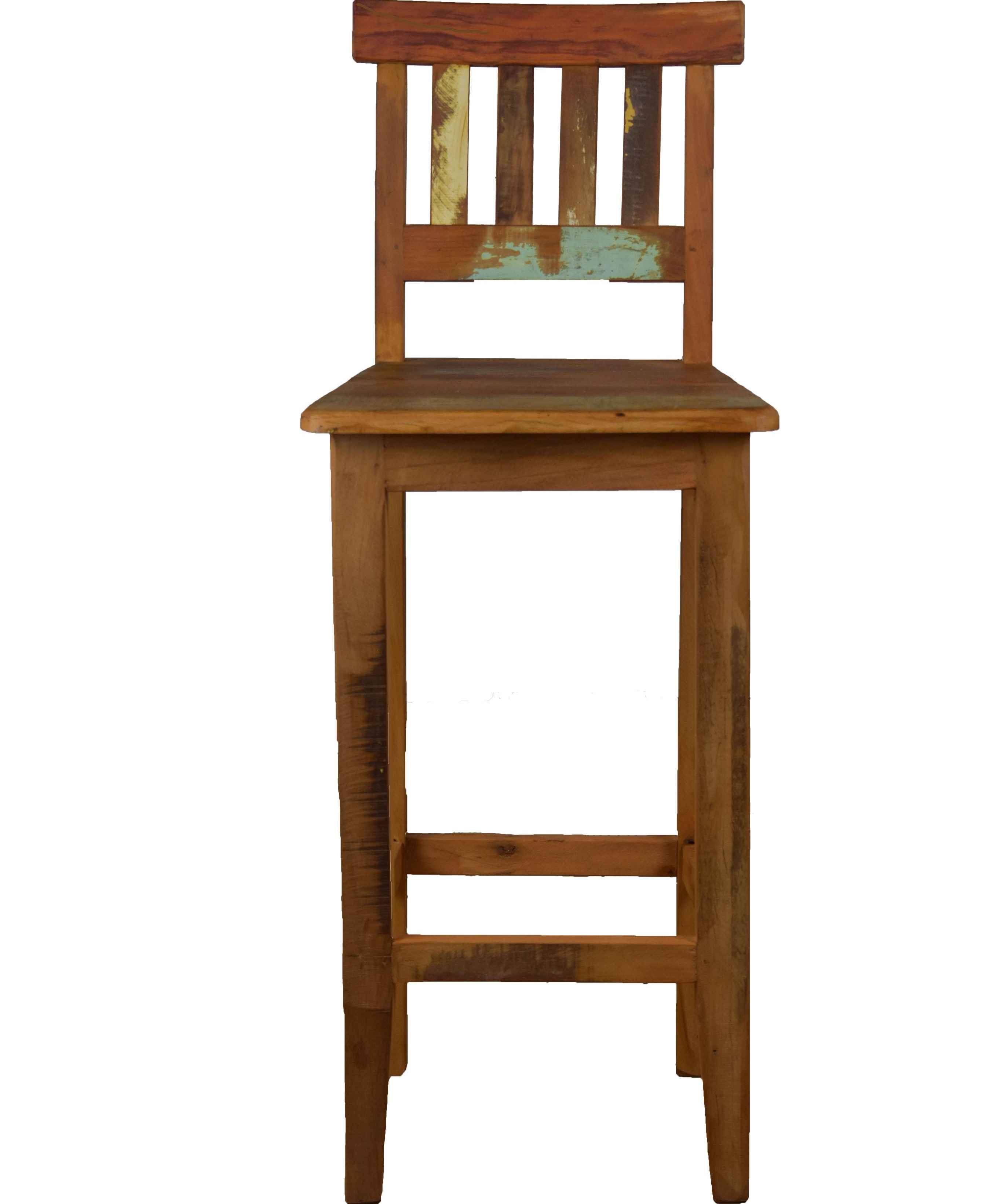 Reclaimed Wood Bar Stool Chairish | Reclaimed Wood Stairs For Sale | Stair Railing | Wooden | Staircase Makeover | Handrail | Van Gieson