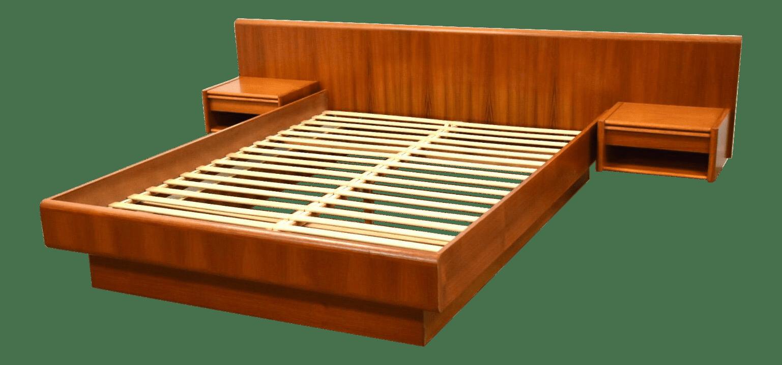 Queen Danish Teak Platform Bed Chairish