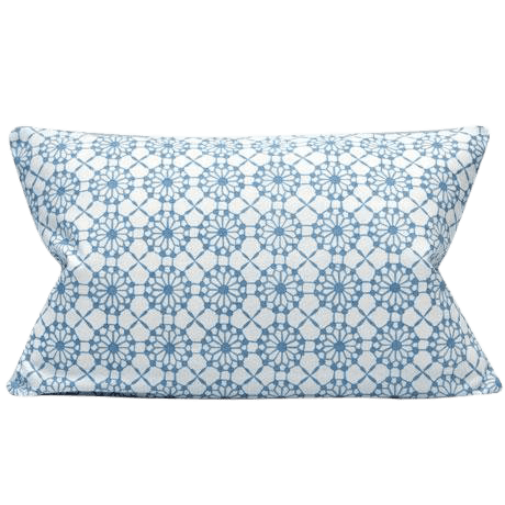 candida porcelain blue and white print lumbar pillow cover