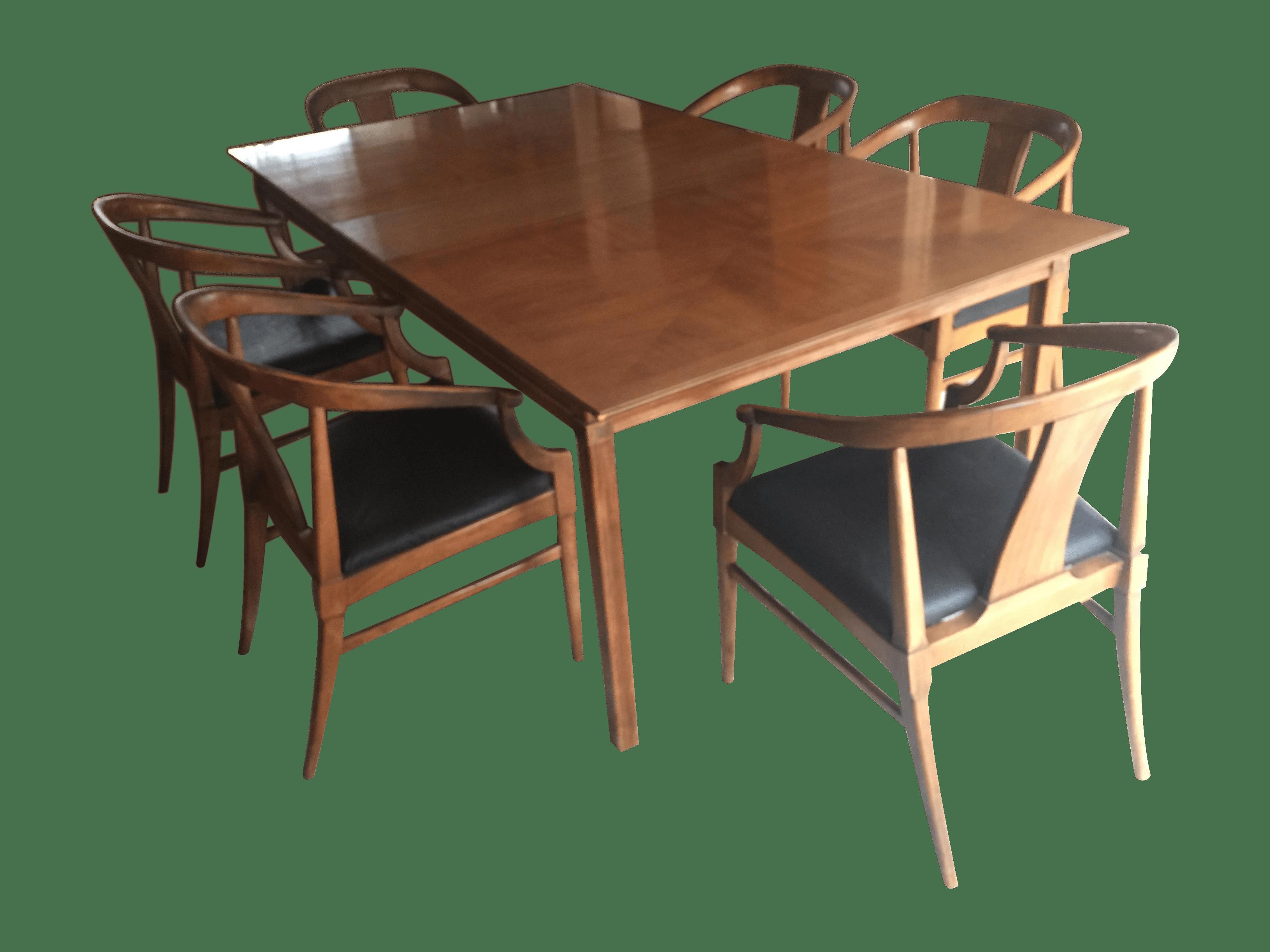 Thomasville Vintage Mid Century Dining Set Chairish