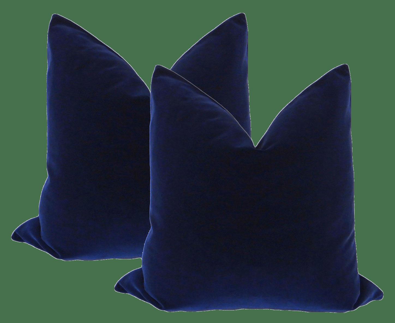 22 Sapphire Blue Velvet Pillows A Pair Chairish