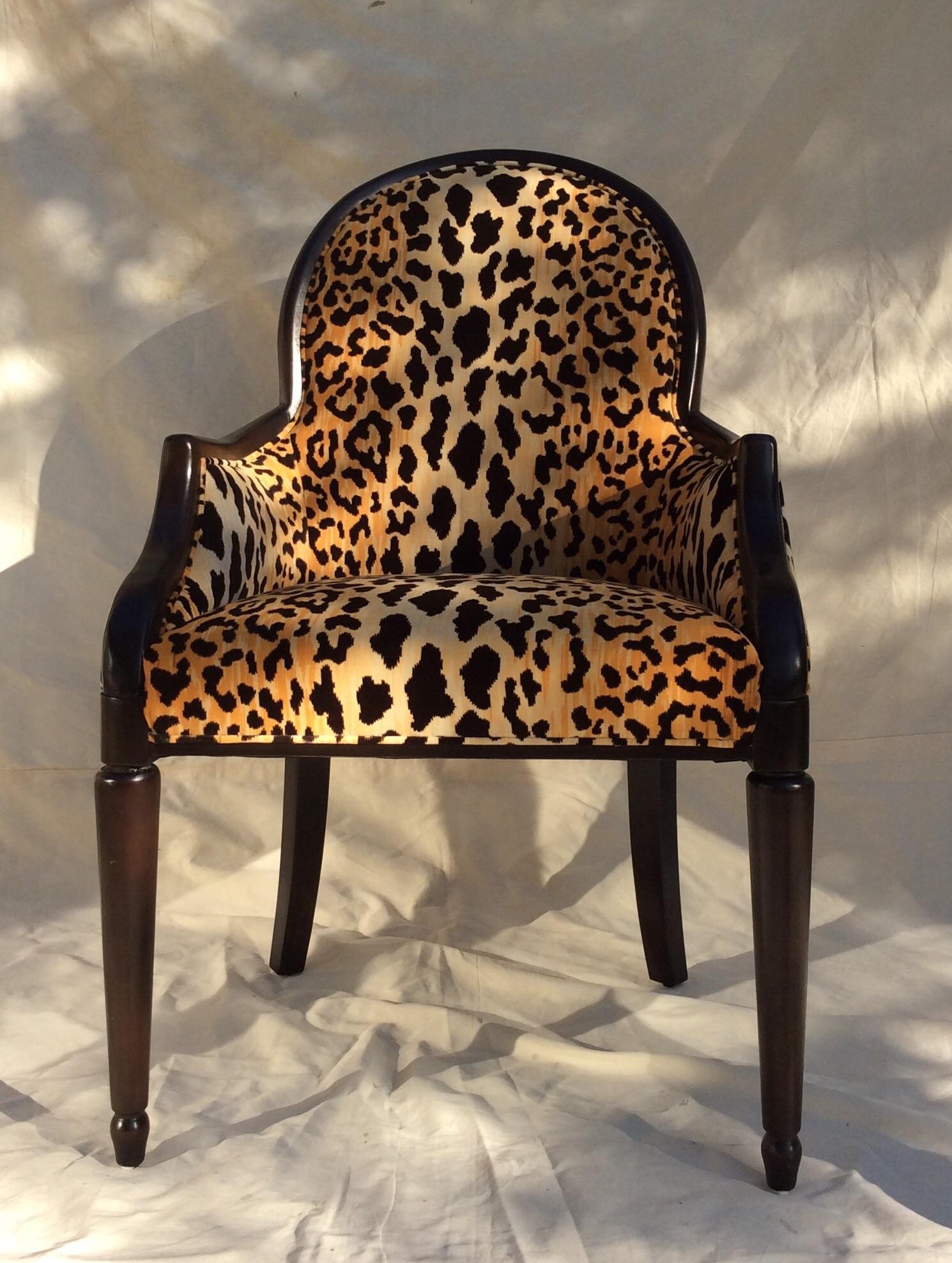 Velvet Animal Print Accent Chair Chairish