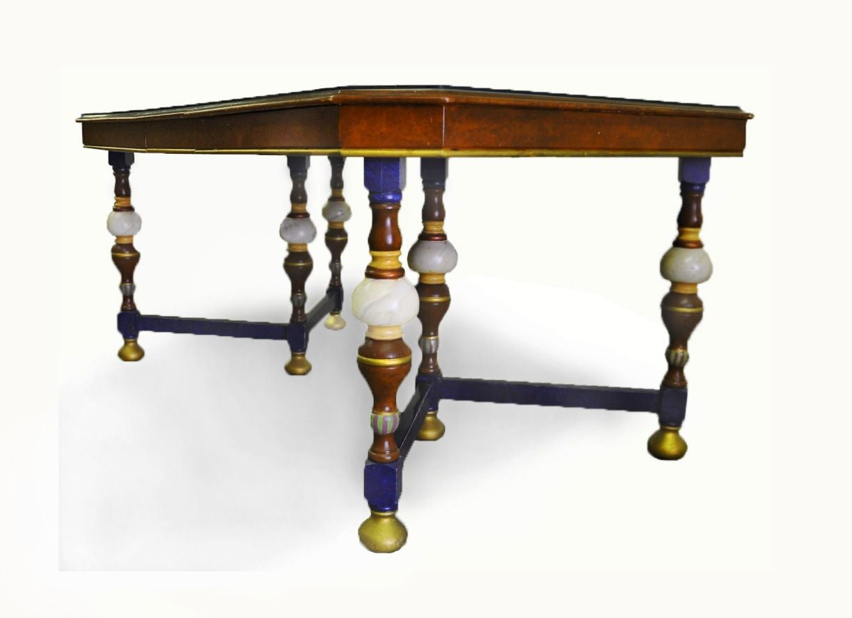 hand painted dining table chairish on hand painted dining room tables id=81668