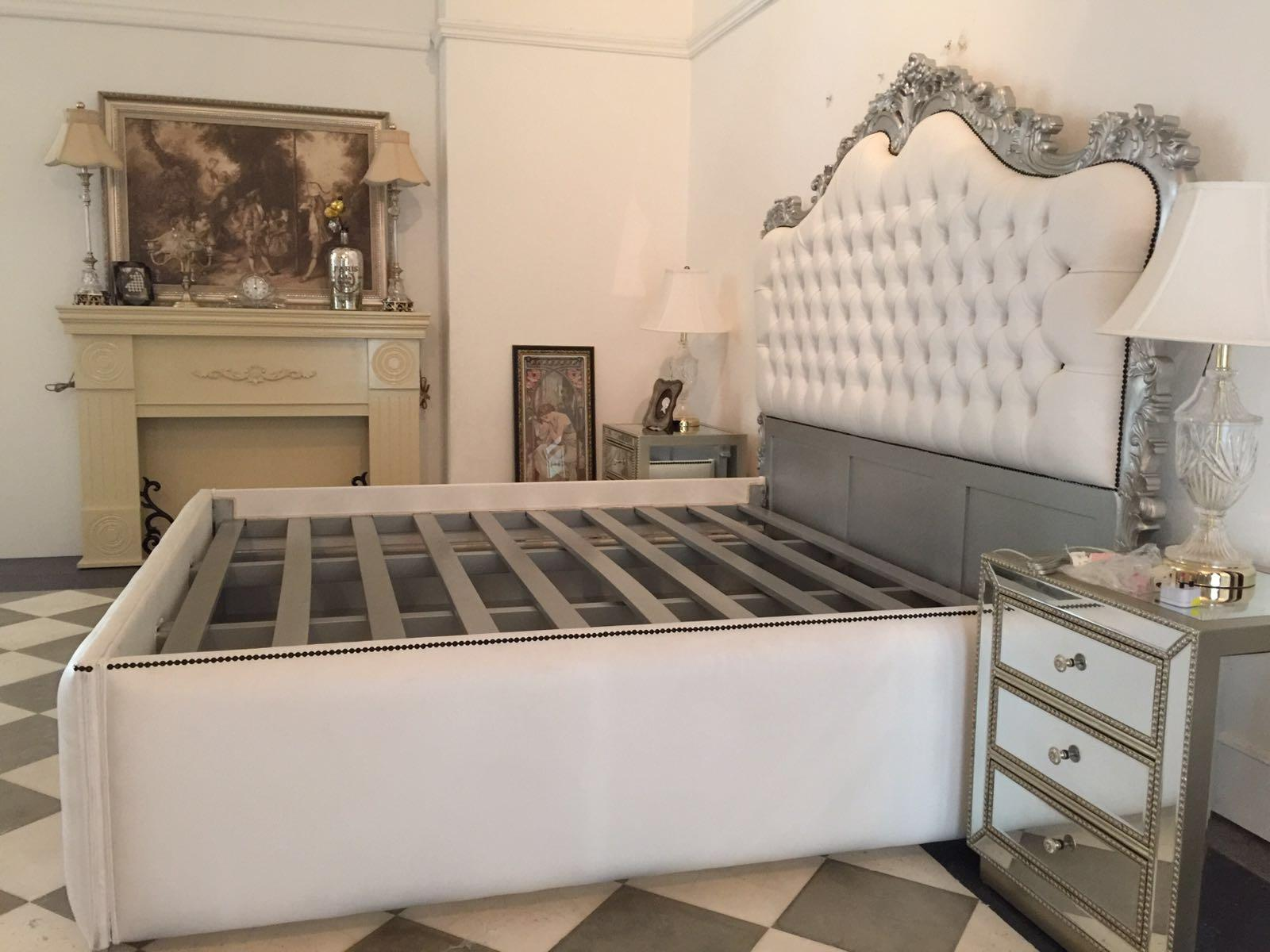 French Upholstered Bed King Size Rococo Baroque Style Chairish
