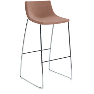 Miss #01. Bar stool with Upholstered seat