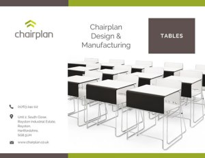 Download a copy of the Chairplan tables brochure by simply completing your details below and clicking the request button.