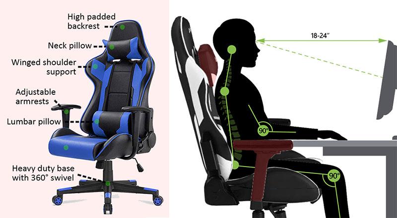 shopping gaming chair head cushion