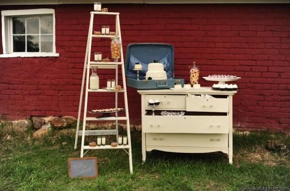 Photographed by Ali & Garret, white vintage dresser & white 6 ft ladder, denver colorado