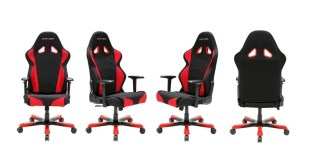 DXRacer Drifting Series DOH/DM61/NWB Newedge Edition Racing Bucket Seat Office Chair Gaming Chair Ergonomic Computer Chair eSports Desk Chair Executive Chair Furniture With Pillows (Black/White/Blue)