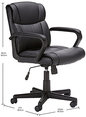 AmazonBasics Mid Back Chair - mid back leather office chairs