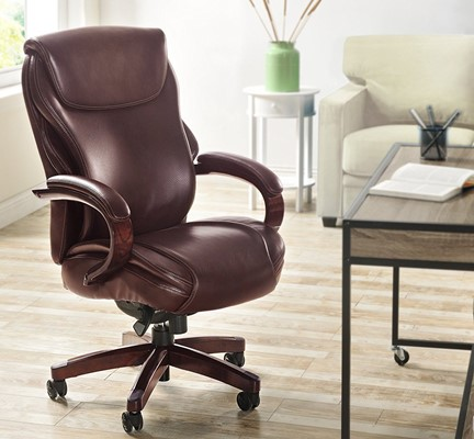 La-Z-Boy Hyland Executive Bonded Leather Office Chair - best office chair for short person